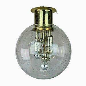 Space Age Deckenlampe aus Glas von Doria, 1960er