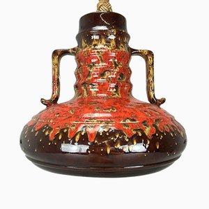 Ceramic Pendant Lamp, 1960s or 1970s
