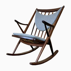 Teak Rocking Chair by Frank Reenskaug for Bramin, 1960s or 1970s
