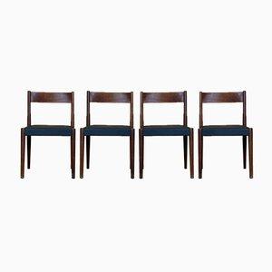 Teak Esszimmerstühle von Poul M. Volther für Røjle, 1960er, 4er Set