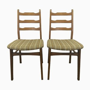 Danish Upholstered Dining Chairs, 1970s, Set of 2