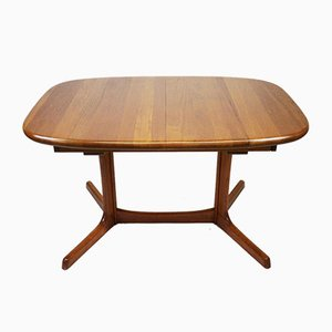 Oval Teak Extendable Dining Table from Dyrlund, 1960s