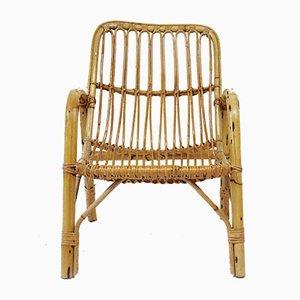 Armlehnstuhl aus Bambus, 1960er
