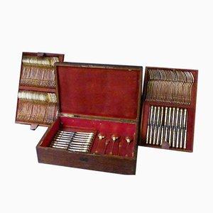 Vergoldetes Vintage Besteck, 130er Set