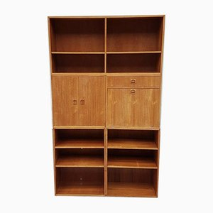 Mid-Century Danish 5-Piece Modular Wall Unit