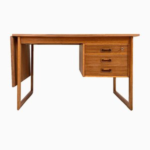Vintage Danish Teak Extendable Drop-Leaf Desk by Arne Vodder for VI-Ma Møbler