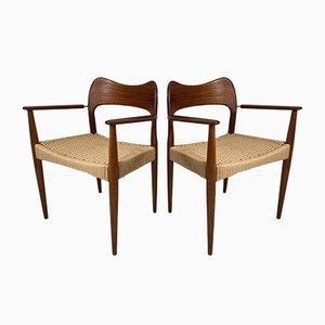 Dänischer Vintage Teak Stuhl von Arne Olsen Hovmand