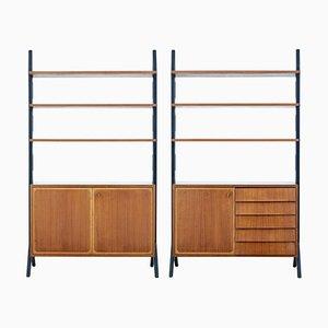 Teak Roxen Bücherschrank Sideboards, Mitte 20. Jahrhundert, 2er Set