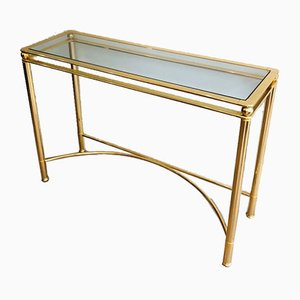 French Gilt Metal Console, 1970s