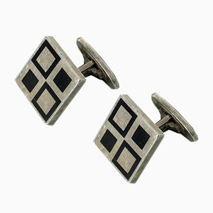 Vintage Silver Cufflinks by Magnus Steffensen for EO, Set of 2