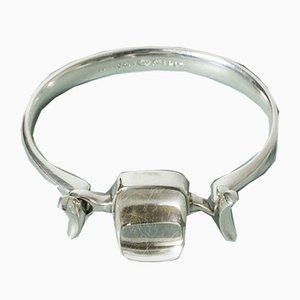 Vintage Silver and Rutilated Quartz Bracelet by Torun Bülow-Hübe for EO
