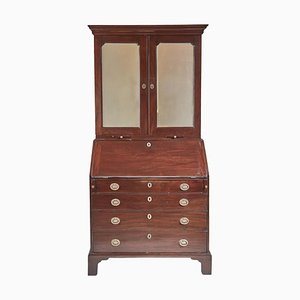 Antique Georgian Mahogany Bureau Bookcase, 1700s