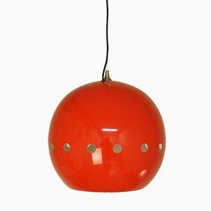 Hängelampe in Rot von Goffredo Reggiani für Artimeta