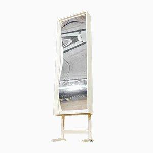 Distorting Funhouse Spiegel in weißem Rahmen, 1960er