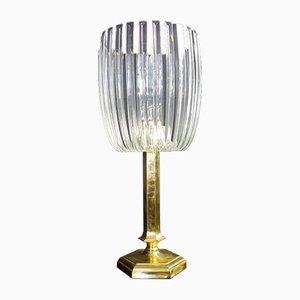Vintage Hollywood Regency Desk Lamp with Brass Base
