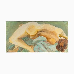 Nude Woman Lying Back, 20th-Century