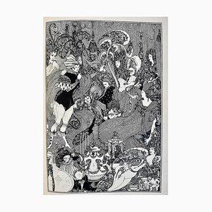 Sous La Colline, Buch Illustriert von AV Beardsley, 1908