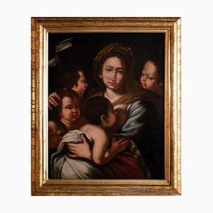 Christian Charity, Original Tempera von Bernardo Strozzi, 1630er
