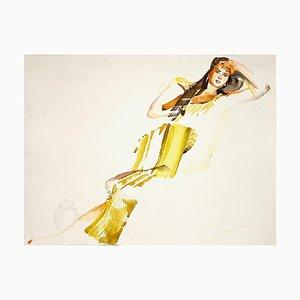 Anastasia Kurakina, Portrait of a Woman, Watercolor, 2019