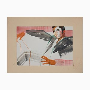 Anastasia Kurakina, Portrait of Man, Watercolor, 2019