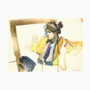 Anastasia Kurakina, Portrait, Watercolor, 2014