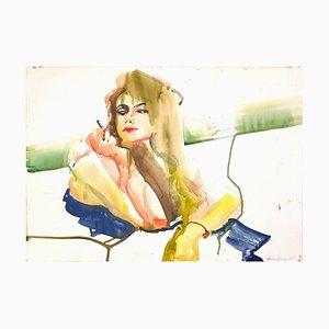 Anastasia Kurakina, Portrait, Watercolor, 2015