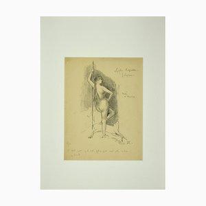 Félicien Rops, Nymph, Lithografie, spätes 19. Jh