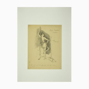 Félicien Rops, Nymph, Lithograph, Late 19th-Century