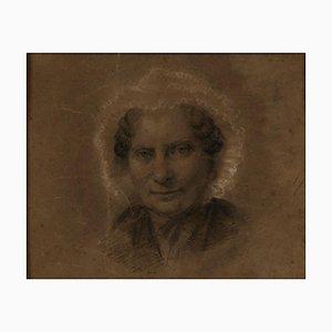 Unknown, Portrait of A Old Woman, Bleistiftzeichnung, spätes 18. Jahrhundert