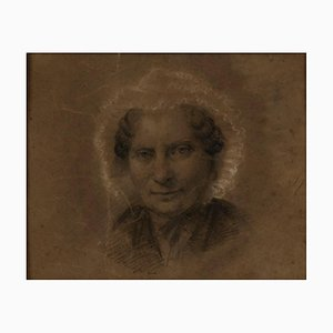 Unknown, Portrait of an Old Woman, Pencil Drawing, Late 18th-Century