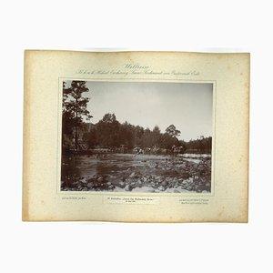 Fotografia vintage del fiume Wallendelly, Australia, 1893