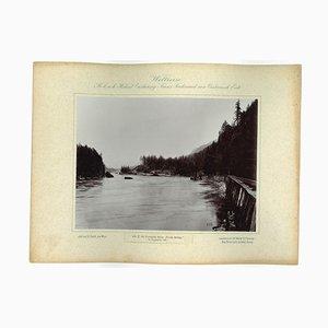 Columbia River, Zahnbrücke, Originales Vintage Photo, 1893