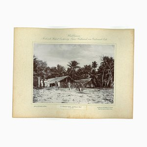 Solomon Islands - Landing in Uge, Original Vintage Photo, 1893