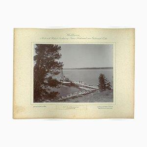 Yellowstone Lake, Original Vintage Foto, 1893