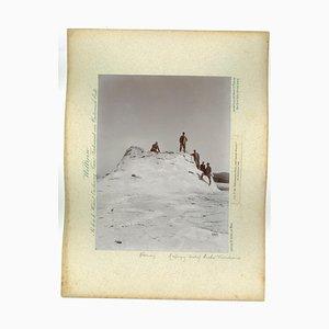 Yellowstone Park, Castell Geyser, Original Vintage Photo, 1893