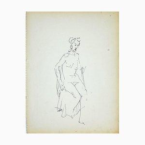 Pennarello a forma di pennarello nero Herta Hausmann, Female Nudity 4, anni '50