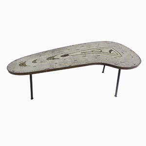 Swiss Mosaic Boomerang Coffee Table