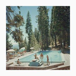 Pool am Lake Tahoe, Slim Aarons, 20th Century, Fotografie