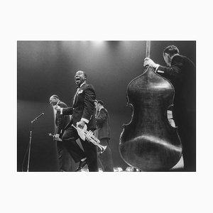 Louis Armstrong auf der Bühne, 20. Jahrhundert, Fotografie