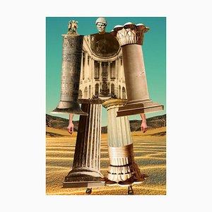 Teller Nr. 150, Abstrakt, Collage, Griechische Säulen, Geschichte