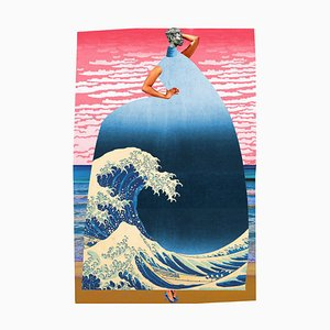 Teller Nr. 209, Abstrakt, Collage, Hokusai Wave