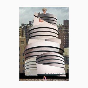 Teller Nr. 196, Abstrakt, Collage, Guggenheim Gebäude, Architektur