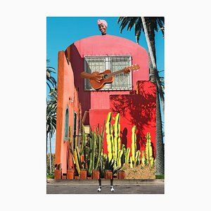 Teller Nr. 355, Abstrakt, Collage, Gitarre, Kaktus