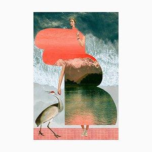 Teller Nr. 339, Abstrakt, Collage, Meer, Wellen