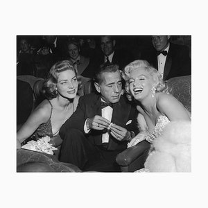 Trío de estrellas, fotografía, Humphrey Bogart, Marilyn Monroe, Lauren Bacall