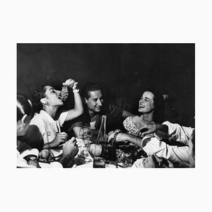 Italienische Party, 20. Jahrhundert, Fotografie, Italienische Küche