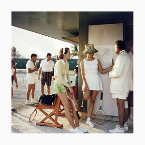 Tennis auf den Bahamas, 1957, Slim Aarons, 20. Jahrhundert