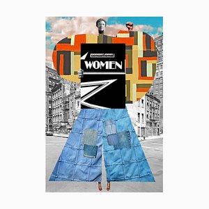 Teller Nr. 229, Abstrakt, Collage, Frauen in Geschichte