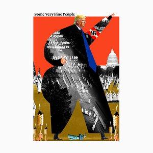 Teller Nr. 249, Abstrakt, Collage, Donald Trump