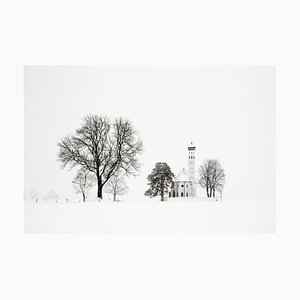 Tree and Church, Christophe Jacrot, Travel, Snow